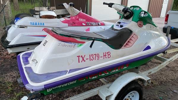 Photo 2 Yamaha Wave-runners and 1 Sea Doo Ski Doo Jet Ski - $12,345 (Waco tx)