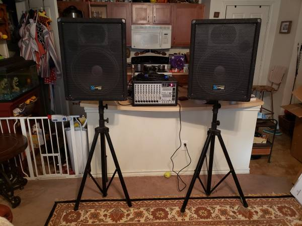 Photo Full PA P.A. System - Behringer   Yorkville speakers - $600 (San Marcos)