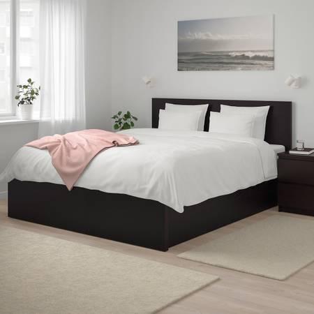 Photo (REDUCED) IKEA Malm Queen-Size Storage Bed w Mattress - $350 (New Braunfels)