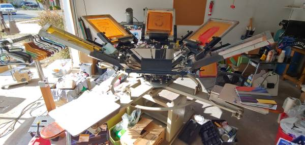 Photo Screen printing equipment, press, dryer exposure and flash unit, inks - $1 (Pflugerville)