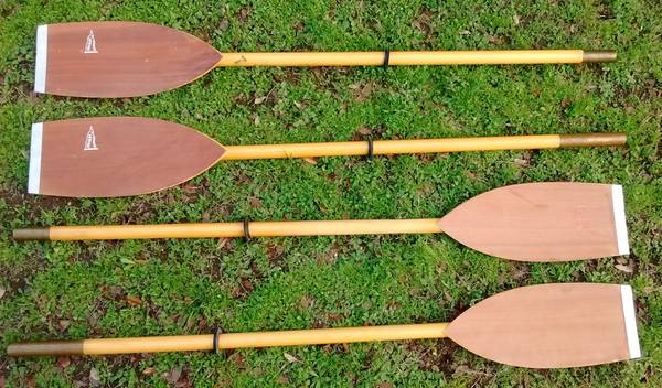 Photo Vintage Wooden Folbot Kayak Paddles, Two Sets - $100 (San Marcos)