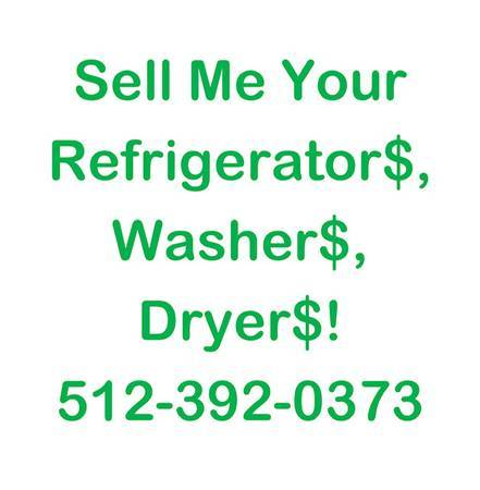 Photo WANTED repairableworking refrigerators stoves dryers washers $$ paid (San Marcos)
