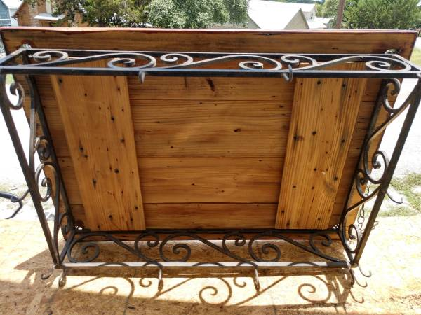 Photo Wood and Iron hanging pot rack - $75 (Canyon Lake)