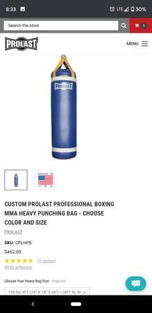 Photo 150 pound heavy bag - $200 (Santa Barbara)