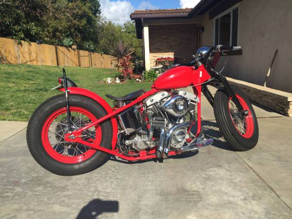 Photo 1973 custom bobber Harley Davison - $10,000 (Santa Barbara Goleta Ventura)