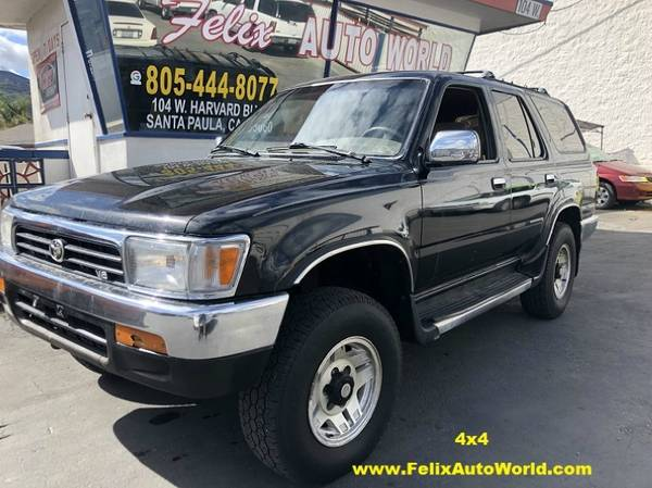 Photo 1995 TOYOTA 4RUNNER SR5 UTILITIES 4DR 3.0L V6 MANUAL 4WD www.FelixAutoWorld. - $2995 ((805) 398-6600)