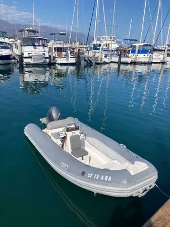 Photo 2003 15ft Caribe inflatable boat 60hp Yamaha - $10,000 (Santa Barbara)