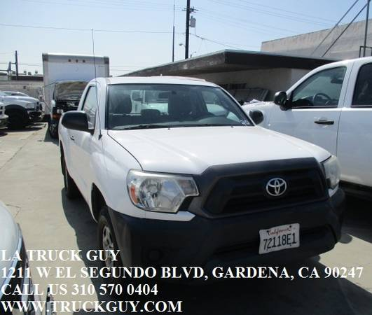 Photo 2013 TOYOTA TACOMA PICKUP WORK UTILITY TRUCK LOW MILES 2.4L GAS SAVER - $7500 (GARDENA)
