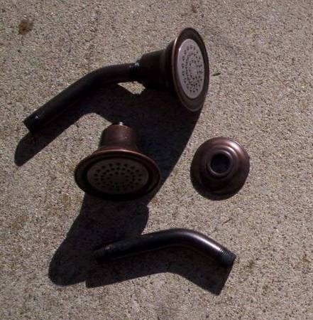 Photo 2 New Never Used Moen Oil Rubbed Bronze Shower Heads w Pipes - $50 (Gol)