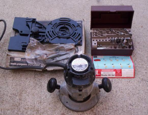 Photo Craftsman 34HP Router w Bit Set  Guide Set Made in USA All for $45 - $45 (Goleta)