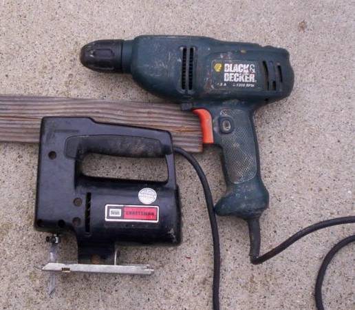 Photo Craftsman Jig Saw and Black  Decker Drill Both for $30 - $30 (goleta)