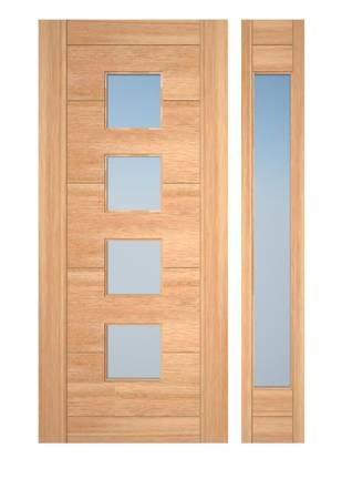 Photo Exterior mahogany door with sidelights - $2,950 (Eugene)