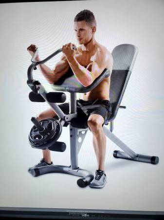Photo NEW Weider XRS 20 Olympic Workout Bench Weights Fitness Training - $249 (Santa Barbara)