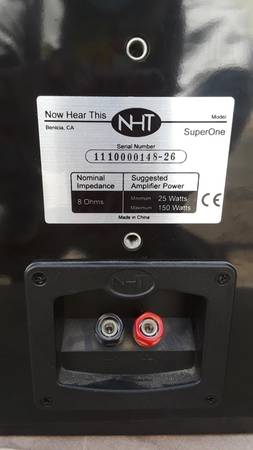 Photo NHT superone speakers - $95