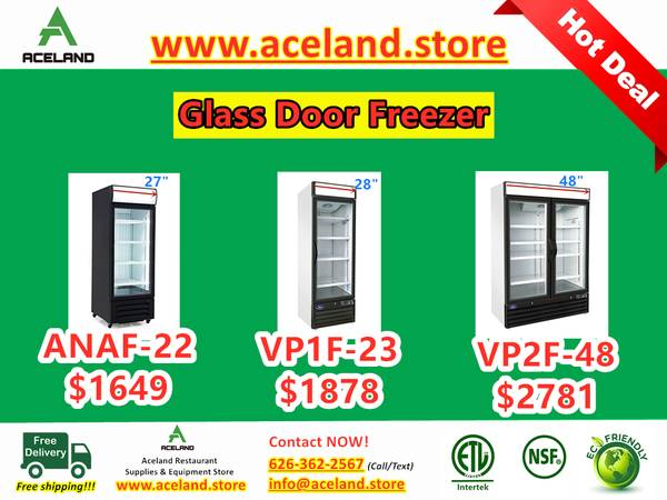 Photo NSF 123-door Commercial Merchandiser Glass-door Refrigerators  Free - $1,199 (Free Shipping 100 New)