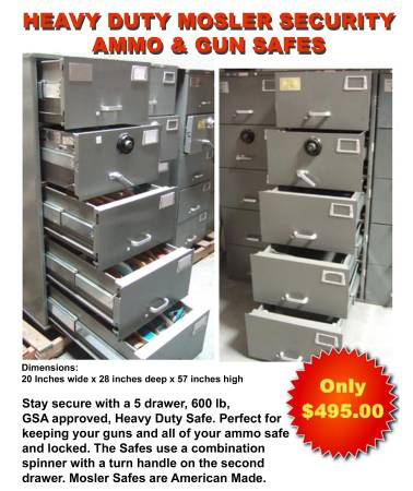 Photo Safe Heavy Duty Mosler GSA 5 Drawer File Cabinet Combination Lock - $495