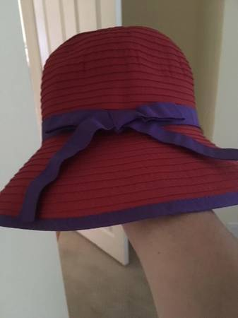 Photo San Diego Hat Co. Ribbon Bucket hat. Red  Purple.New - $10 (Summerland, CA)