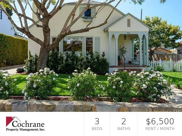 Photo Upper East 3 Bedroom Charmer Near Old Mission Santa Barbara (422 E. Padre St.)