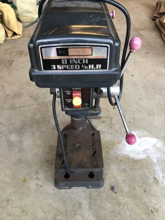Photo drill press craftsman 8 inch 3 speed 16 Hp - $100 (Carpinteria)