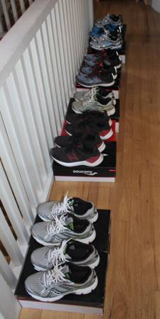 Photo 10 Pairs Little-Used Men39s Running Shoes - $150 (Santa Fe)