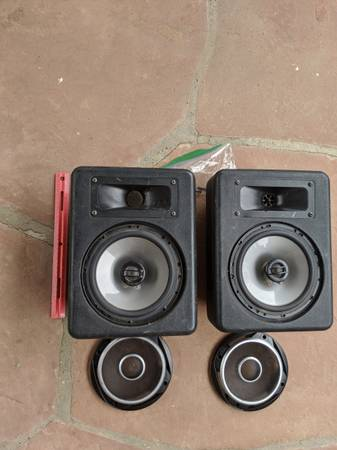 Photo Barely used JL AUDIO C2- 650X speakers and Speaker Boxes The speakers - $200 (Santa Fe)