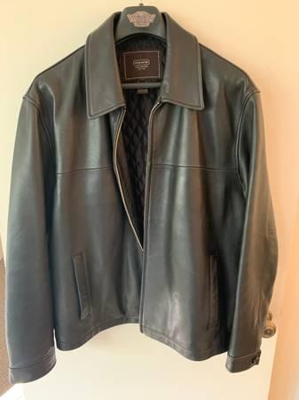 Photo Mens Coach Black Leather Jacket Large - $100 (Santa Fe)