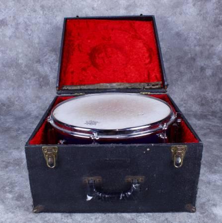 Photo Slingerland Snare Drum October 1964 6 x 14quot Blue Sparkle - $300 (Santa Fe)