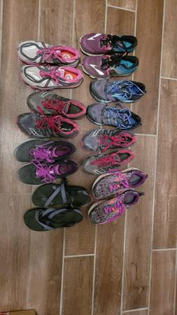 Photo Women39s running shoes and Chaco sandals size 8.5 - $20 (Santa Fe)