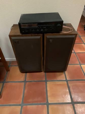 Photo Yamaha Receiver and Cerwin Vega speakers - $75 (Santa Fe)