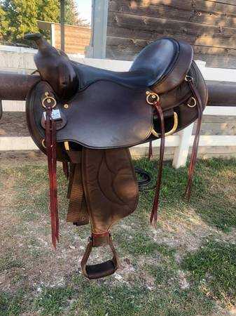 Photo 16quot Big Horn King of Mules Flat Back Saddle For Sale - $750 (Orcutt)