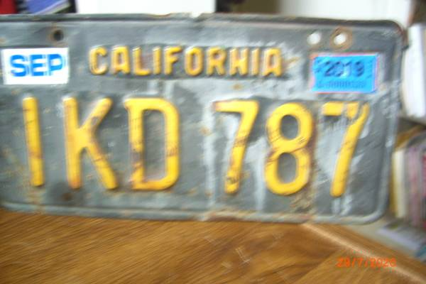 Photo 1950 license Plate- Willys Wagon - $25 (Lompoc)