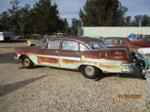 Photo 1959 PLYMOUTH BELVEDERE 4DR V8  DODGE PLYM STUDE PACKARD PROJECT CARS - $1850 (Nipomo)