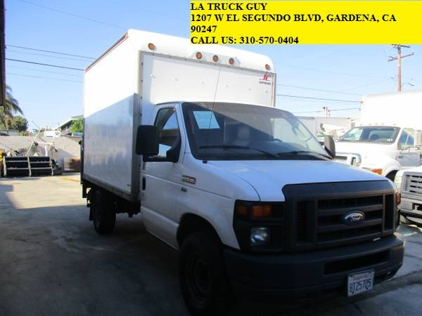 Photo 2009 FORD F-350 F350 10FT 10 FOOT 1039 BOX TRUCK WITH 3 FT LIFTGATE - $9,500 (GARDENA LOS ANGELES DELIVERY)