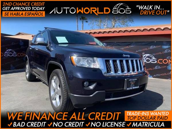 Photo 2011 Jeep Grand Cherokee Overland Sport Utility 4D (- as low as $495 Down oac Bad Credit OK)