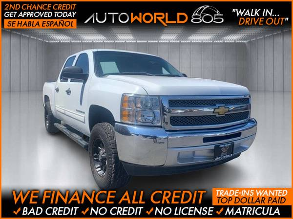 Photo 2012 Chevrolet Chevy Silverado 1500 Crew Cab LS Pickup 4D 5 34 ft (- as low as $495 Down oac Bad Credit OK)