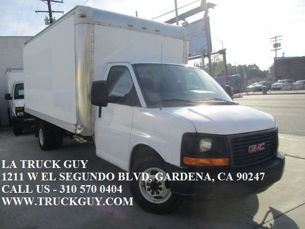 Photo 2012 GMC SAVANA 1639 CUTAWAY MOVING BOX TRUCK W WALK UP RAMP - $12500 (GARDENA)