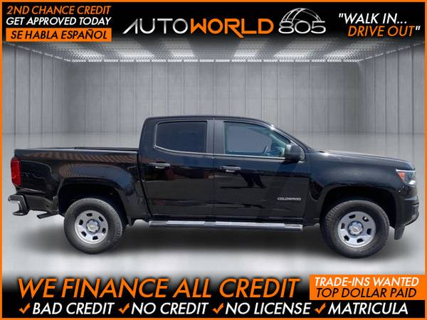 Photo 2016 Chevrolet Chevy Colorado Crew Cab Work Truck Pickup 4D 5 ft (- as low as $495 Down oac Bad Credit OK)