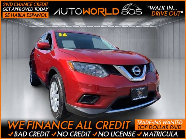 Photo 2016 Nissan Rogue S Sport Utility 4D (- as low as $495 Down oac Bad Credit OK)