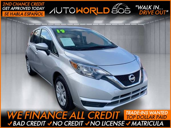 Photo 2019 Nissan Versa Note SV Hatchback 4D (- as low as $495 Down oac Bad Credit OK)