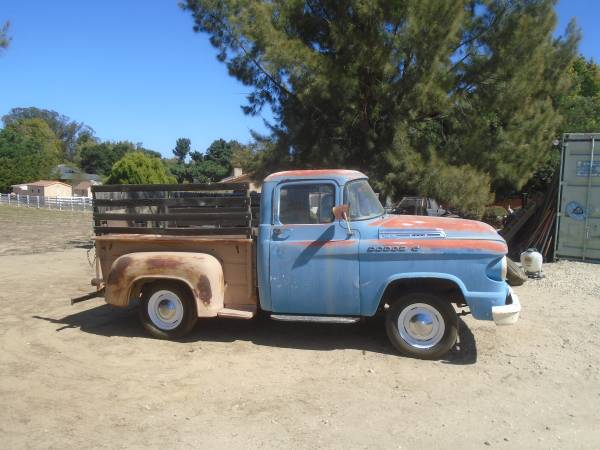 Photo 58 DODGE PU 56 CHRYSLER 2DR HEMI 50 PLYMOUTHS 6164DART MORE OLD CARS - $3000 (NIPOMO CALIFORNIA)