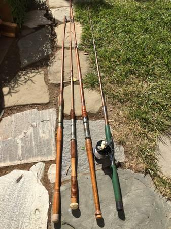 Photo Antique Split Bamboo Fishing Rods (Santa Maria)