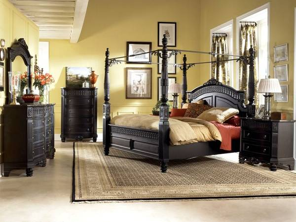 Photo Ashley King Canopy Bed Set - $3000 (Orcutt)