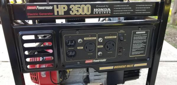 Photo Coleman Powermate HP3500 Honda Propane Generator - $500 (Santa Ynez)