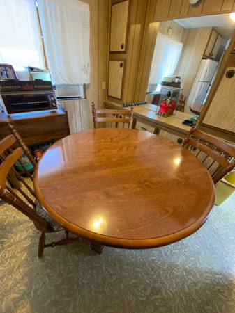 Photo Dining Table  3 Chairs - $200 (SANTA MARIA)