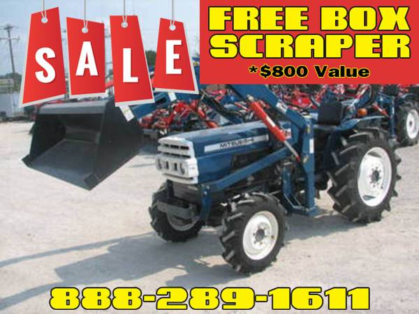 Photo Mitsubishi D2650 4WD Tractor FREE Box Scraper Included - $800 Value (Call Us About Our Lay-A-Way Program Today)