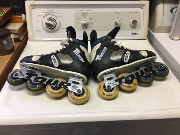 Photo Tour Inline Roller Hockey Skates, Mens shoe size 7 - $40 (Santa Maria)