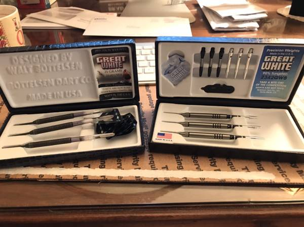 Photo Two Sets of Bottelsen Great White Darts - $100 (Lompoc)
