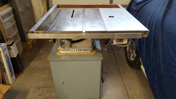 Photo Vintage Craftsman Model 100 10quot Table Saw with Custom Extensions - $350 (Santa Maria)
