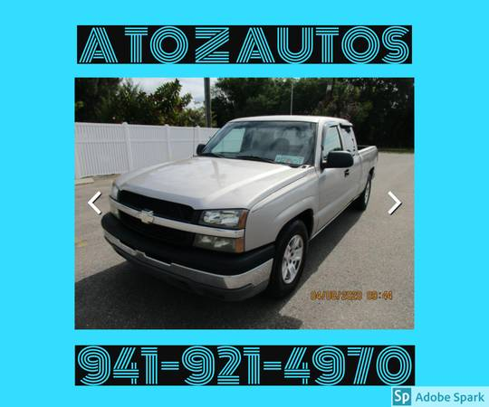 Photo $1000 DOWN - 2004 CHEVY SILVERADO 1500 - EXTENDED CAB - $3900 (A TO Z AUTOS - YOUR 1 BUY HERE PAY HERE)