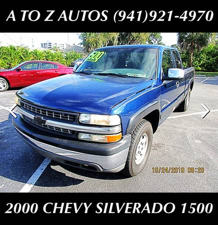 Photo 1200 DOWN 2000 CHEVY SILVERADO 1500 - 4X4 - $5900 (A TO Z AUTOS - YOUR 1 BUY HERE PAY HERE)